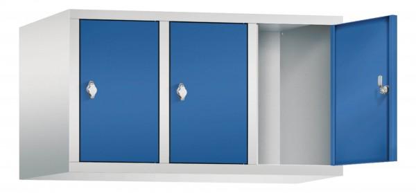 Spind Aufsatzschrank Comfort 3 Türen (300mm) Enzianblau