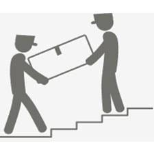 Anlieferung mit Treppentransport frei Verwendungsstelle