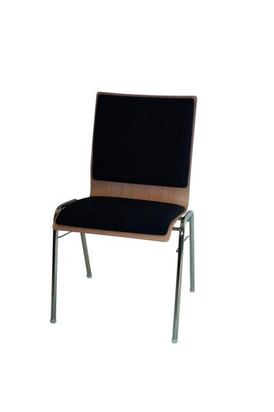 Stapelstuhl Straight mit Sitz- und Rückenpolster
