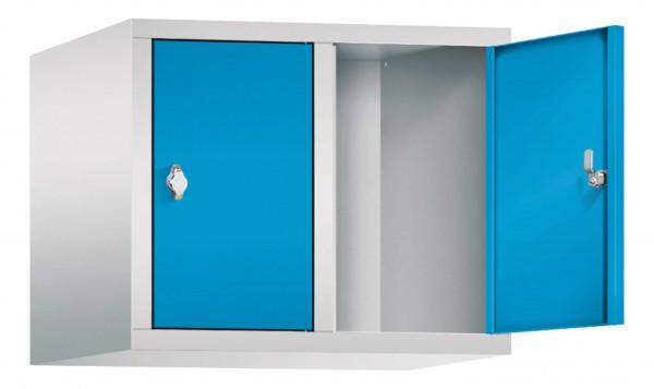 Spind Aufsatzschrank Comfort 2 Türen (400mm) Lichtblau