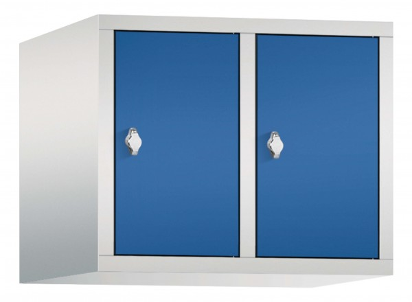 Spind Aufsatzschrank Comfort 2 Türen (300mm) Enzianblau