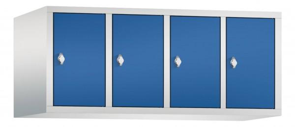 Spind Aufsatzschrank Comfort 4 Türen (300mm) Enzianblau