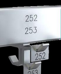 Ablagenummer für Reihengarderobe