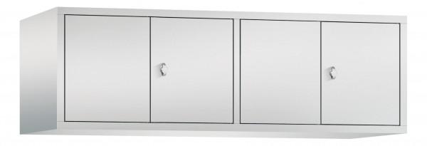 Spind Aufsatzschrank Comfort zueinanderschlagend 4 Türen (400mm) Lichtgrau