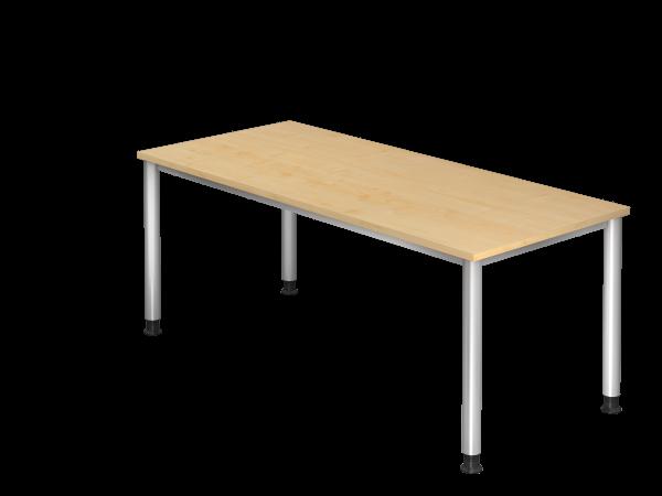 Schreibtisch Rundrohrgestell