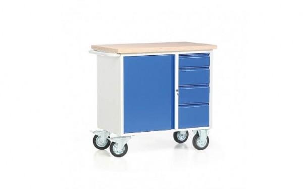 Kleiner Werkbankwagen mit 4 Schubladen