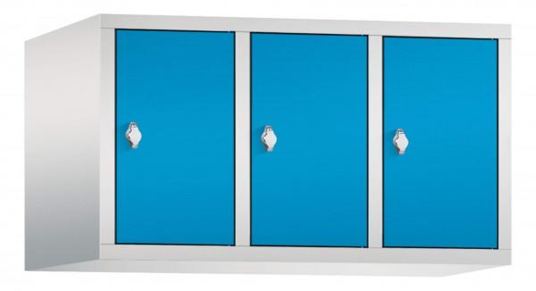 Spind Aufsatzschrank Comfort 3 Türen (400mm) Lichtblau