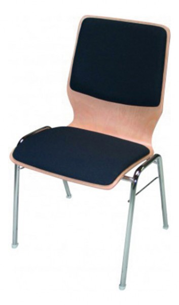 Stapelstuhl Curved mit Sitz- und Rückenpolster