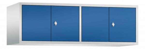 Spind Aufsatzschrank Comfort zueinanderschlagend 4 Türen (400mm) Enzianblau