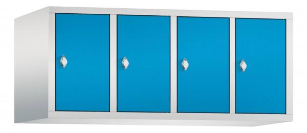 Spind Aufsatzschrank Comfort 4 Türen (300mm) Lichtblau