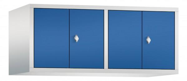 Spind Aufsatzschrank Comfort zueinanderschlagend 4 Türen (300mm) Enzianblau