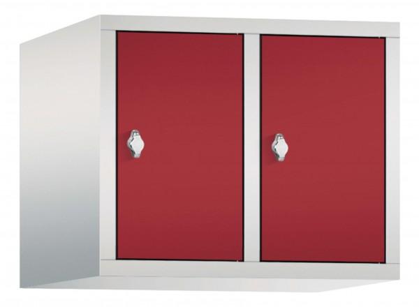 Spind Aufsatzschrank Comfort 2 Türen (300mm) Rubinrot