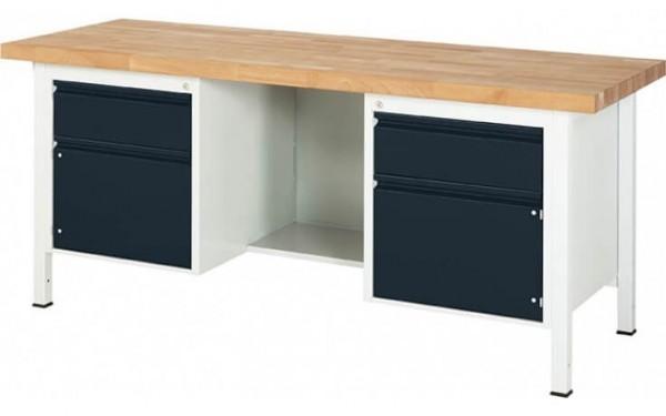 Kastenwerkbank XL zwei Schubladen zwei Türen