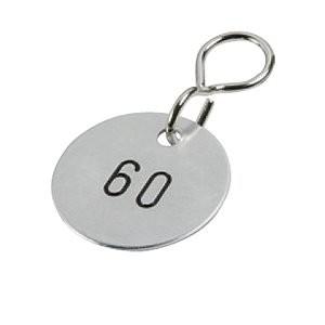 Schlüsselanhänger alufarbig