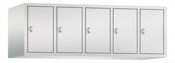 Spind Aufsatzschrank Comfort 5 Türen (300mm) Lichtgrau