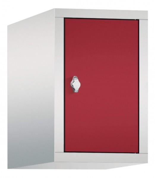 Spind Aufsatzschrank Comfort 1 Tür (300mm) Rubinrot