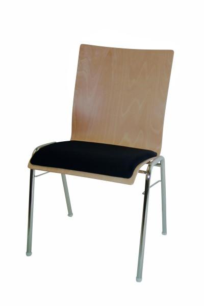 Stapelstuhl Straight mit Sitzpolster