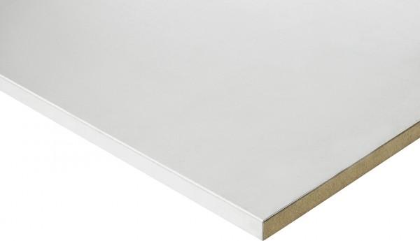 Mehrpreis Arbeitsplatte Stahlblech Breite 1250 mm