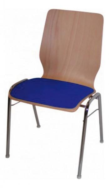 Stapelstuhl Curved mit Sitzpolster