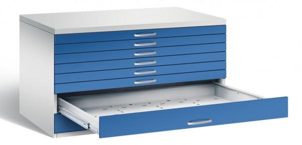 Planschrank 8 Schubladen Enzianblau