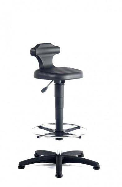 Arbeitsdrehstuhl Flex mit Gleiter und Fußring