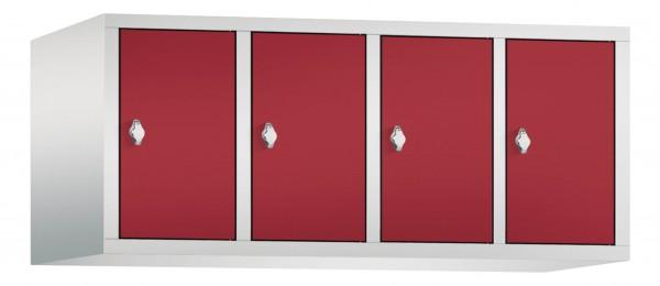 Spind Aufsatzschrank Comfort 4 Türen (300mm) Rubinrot