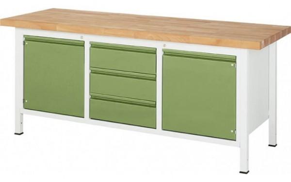 Kastenwerkbank XL drei Schubladen zwei Türen