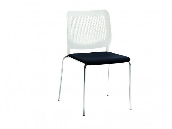 Stapelstuhl Kunststoff mit Sitzpolster