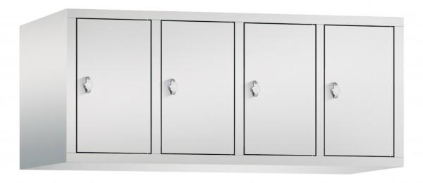 Spind Aufsatzschrank Comfort 4 Türen (300mm) Lichtgrau